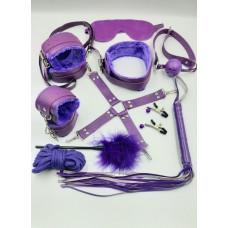 БДСМ набор фиолетовый заказать с доставкой по Украине  sexy-shop.com.ua