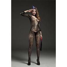 Эротический комбинезон черный RIMES заказать с доставкой по Украине  sexy-shop.com.ua