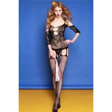 Бодистокинг с рукавом черный заказать с доставкой по Украине  sexy-shop.com.ua