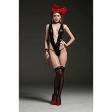 Боди эротическое черное заказать с доставкой по Украине  sexy-shop.com.ua