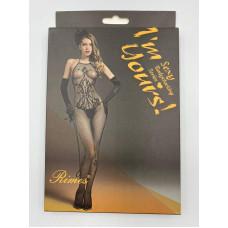 Эффектный бодистокинг черный RIMES заказать с доставкой по Украине  sexy-shop.com.ua