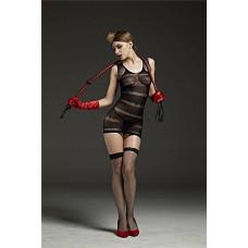 Эффектное черное платье в полоску заказать с доставкой по Украине  sexy-shop.com.ua