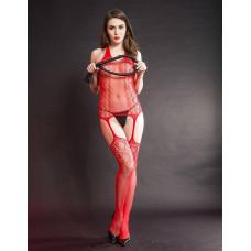 Эффектный комбинезон красный заказать с доставкой по Украине  sexy-shop.com.ua